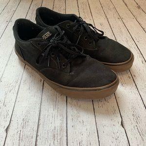 Black Canvas Vans Gum Sole Men's 12